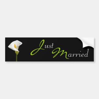 Wedding Cala Lily Black Bumper Sticker