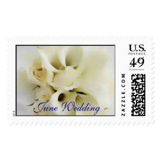Wedding Calily Postage Stamp Template