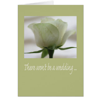 Wedding cancellation announcement greeting card
