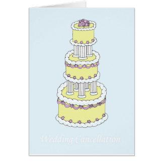 Wedding cancellation card. card