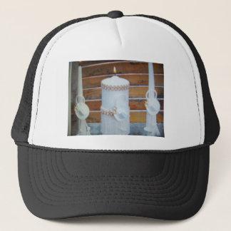 wedding candels trucker hat