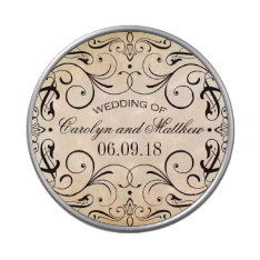Wedding Candy Favor Tins | Vintage Flourish Jelly Belly Tins at Zazzle