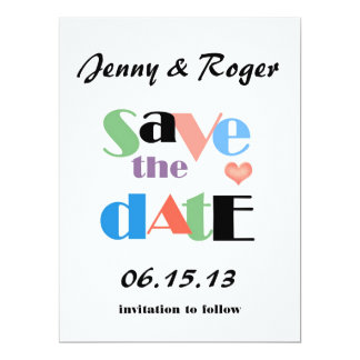 Wedding Candy Jar Save the Date Card