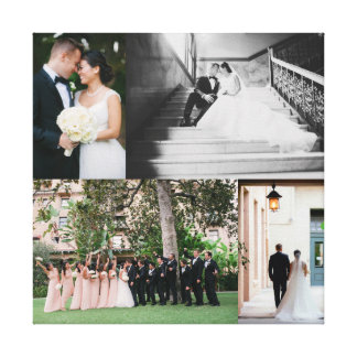 Wedding Canvas Print with YOUR PHOTOS