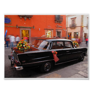 Wedding Car: Black Sedan Poster