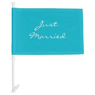 Wedding Car Flag-Just Married