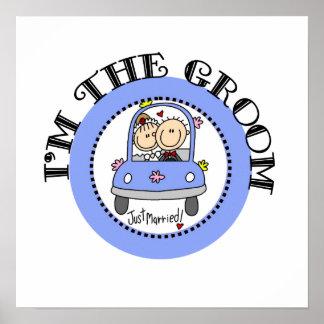 Wedding Car Groom Print