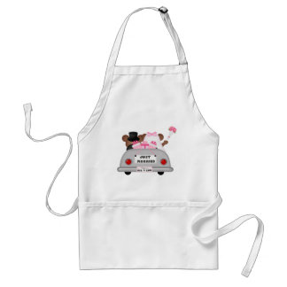 Wedding Car - Just Married Adult Apron