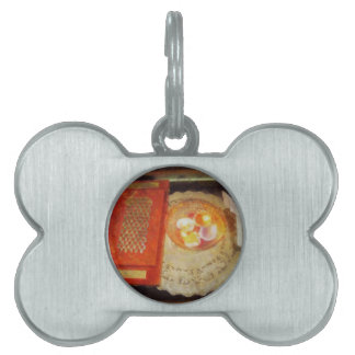 Wedding card and candles pet ID tag