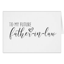 wedding card for the future Father-in-law
