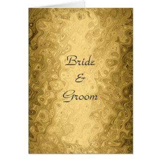 Wedding Card Invitation Gold Cards