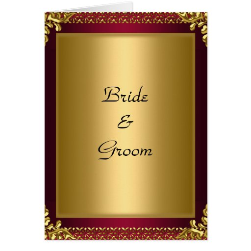 Wedding Card Invitation Gold Red Greeting Cards