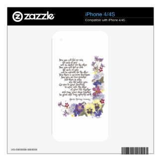 Wedding cards and gifts iPhone 4S skins
