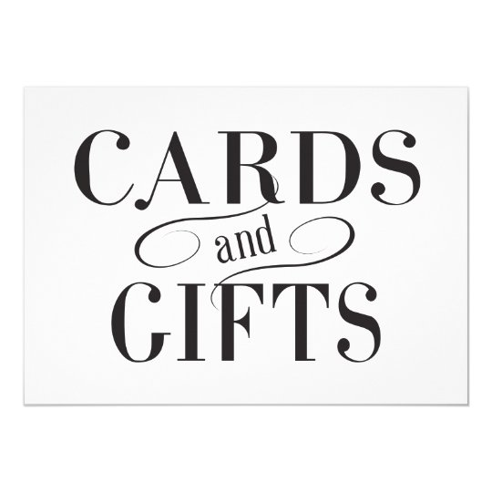 Wedding Cards & Gifts Sign | Zazzle.com