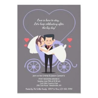 Wedding Carriage Grey Post Wedding Brunch Invitation