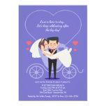 Wedding Carriage Purple Post Wedding Brunch Card