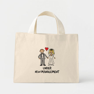Wedding Cartoon - Under New Management Canvas Bags
