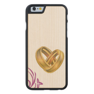 Wedding Carved Maple iPhone 6 Case
