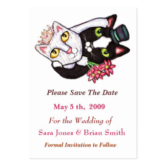 Wedding Cat Groom & Bride Save The Date Card
