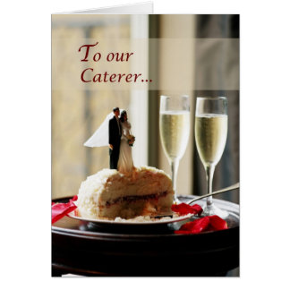 Wedding Caterer, Thank You Card