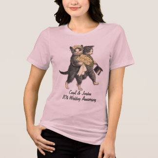 Wedding Cats Anniversary - Customize T-Shirt