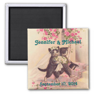 Wedding Cats Bride and Groom Save the Date Magnet