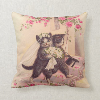 Wedding Cats Bride and Groom Throw Pillows