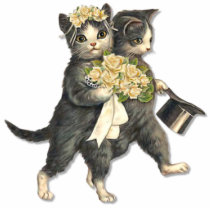 Wedding Cats Cutout