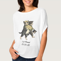 Wedding Cats - Just Married Customize T-Shirt