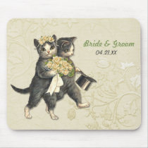 Wedding Cats Mouse Pad