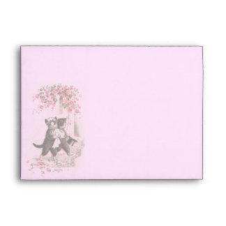 Wedding Cats Vintage Envelope