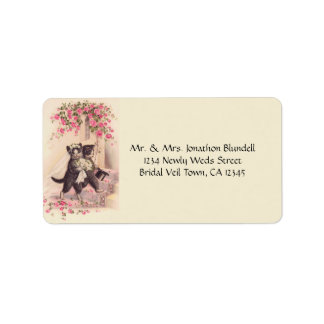 Wedding Cats Vintage Personalized Address Label