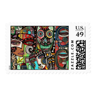 Wedding - Celebrate Life Mexican Couple Stamp