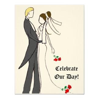 Wedding Celebrate Roses Invitation