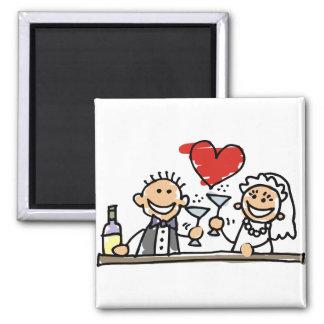Wedding Celebration 2 Inch Square Magnet