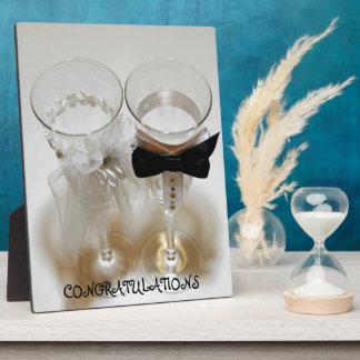 Wedding Celebration Glasses Plaque