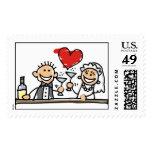 Wedding Celebration Postage Stamps