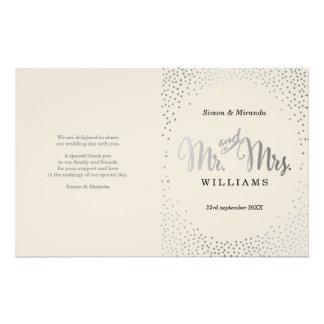 WEDDING CEREMONY BOOK ivory mini silver confetti Flyer