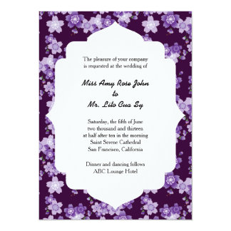 Wedding Ceremony Cherry Blossoms Purple Sakura Card