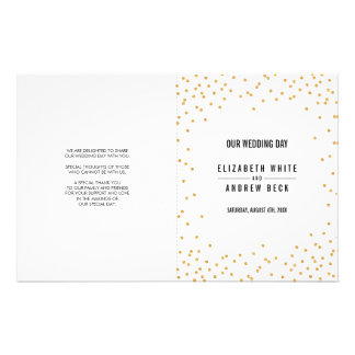 WEDDING CEREMONY cute simple glamour gold glitter Flyer