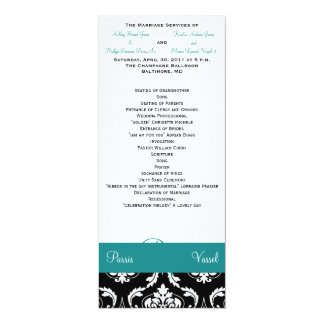 Wedding Ceremony Part One Jade Shade #4 4x9.25 Paper Invitation Card
