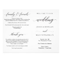 Wedding Ceremony Program Folded Programs Flyer