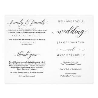 Wedding Ceremony Program Folded Programs Flyer