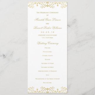 Wedding Ceremony Program | Gold Vintage Glamour
