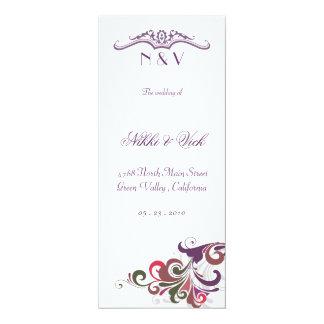 Wedding Ceremony / Program Custom Invitations
