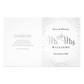 WEDDING CEREMONY PROGRAM mini silver confetti Flyer