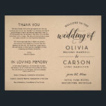 """Wedding Ceremony Program 