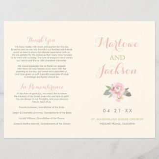 Wedding Ceremony Program | Spring Vintage Boho