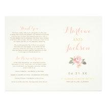 Wedding Ceremony Program | Spring Vintage Boho Flyer