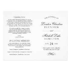 Wedding Ceremony Programs | Black Classic Elegance Flyer at Zazzle